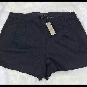 J. Crew Solid Black Pleated Front Shorts Sz 8